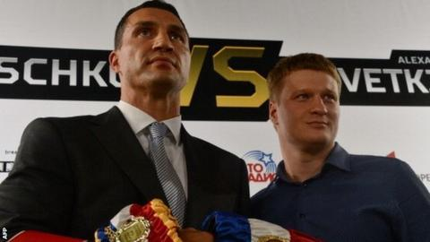 Wladimir Klitschko and Alexander Povetkin