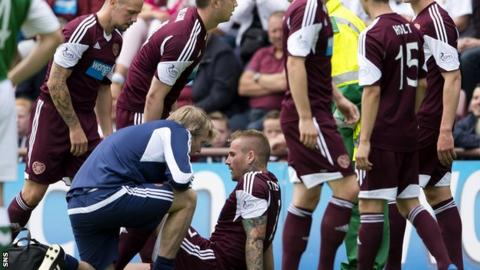 Ryan Stevenson suffered the injury during Sunday's Edinburgh derby win at Tynecastle