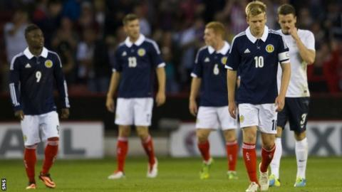 Scotland captain Stuart Armstrong is despondent at Bramall Lane