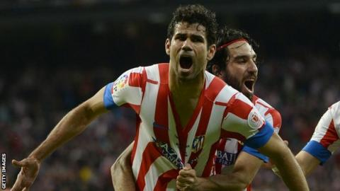 Atletico Madrid striker Diego Costa signs a new contract