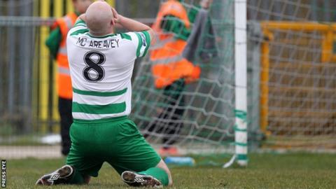 Donegal Celtic's Paul McAreavey