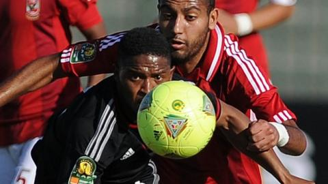 Al Ahly in action against Orlando Pirates