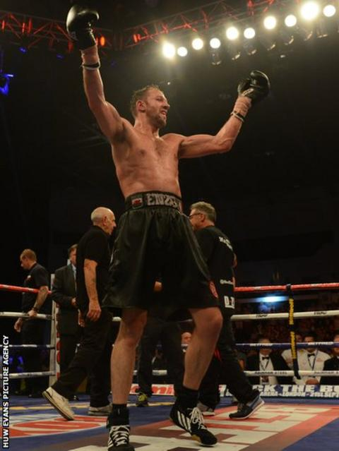 Enzo Maccarinelli has the energy to acknowledge his fans in Cardiff