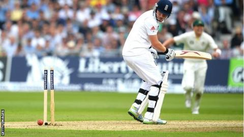 Jonny Bairstow is bowled