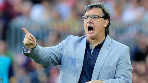 Barcelona coach Gerardo Martino