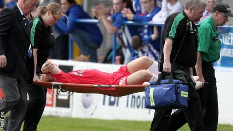 Ross Redman was carried off at Coleraine Showgrounds