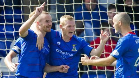Billy McKay (centre) has been razor-sharp in front of goal