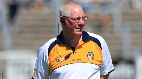 Antrim football manager Frank Dawson