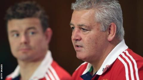 Brian O'Driscoll and Warren Gatland during the 2013 Lions tour