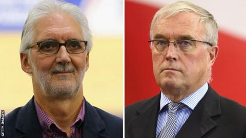 Brian Cookson (left) and Pat McQuaid