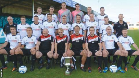 Rhyl's first team squad (Photo: Rhyl FC)