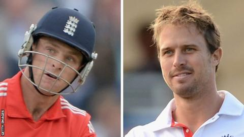 Jos Buttler (left) and Nick Compton