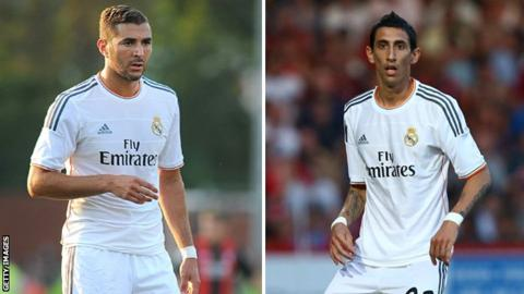 Karim Benzema and Angel di Maria