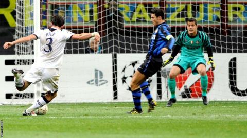 Gareth Bale scores against Inter