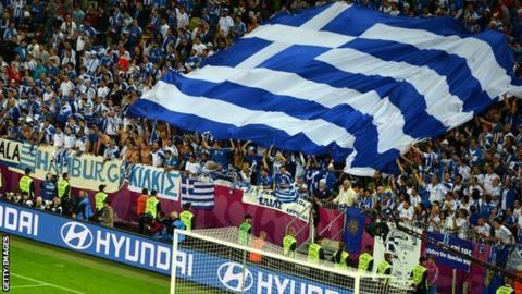 Greek football supporters