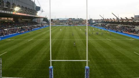 Cardiff Blues unveil the new synthetic Arms Park playing surface in their pre-season friendly against Sale Sharks