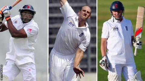 Michael Carberry, James Tredwell and Gary Ballance