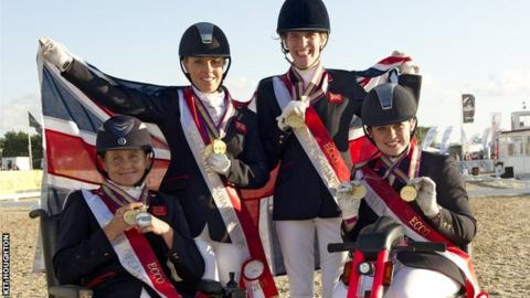 Anne Dunham, Sophie Wells, Sophie Christiansen and Natasha Baker
