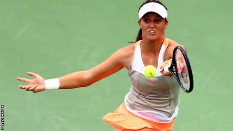 Laura Robson in action in the first round of the 2013 US Open