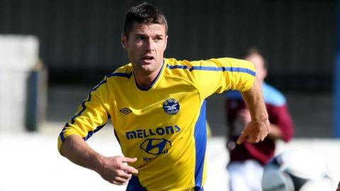 Dean Youle scored in Bangor's 3-2 win at Warrenpoint
