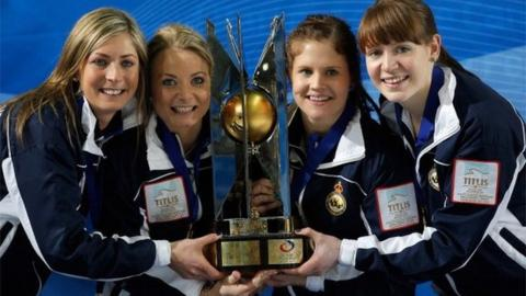 Eve Muirhead, Anna Sloan, Vicki Adams and Claire Hamilton