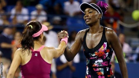 Jie Zheng and Venus Williams