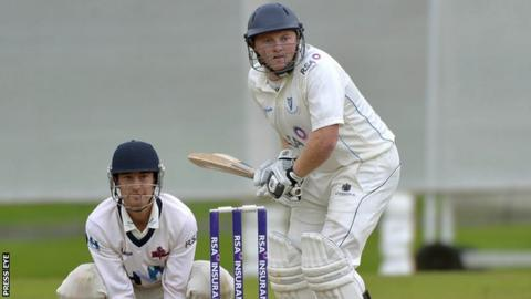 Andrew Poynter's century helped Leinster Lightning earn a draw at Waringstown