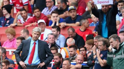 Arsene Wenger spend banner