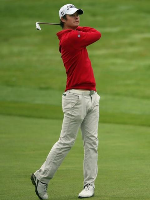 Espen Kofstad of Norway leads the Wales Open after a first-round seven-under-par 64