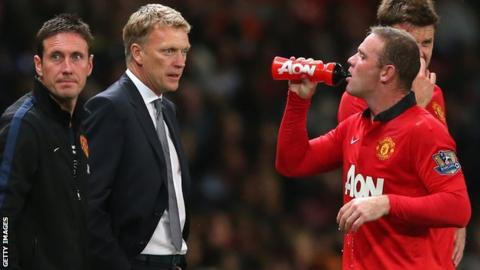 David Moyes and Wayne Rooney