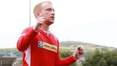 Cilftonville striker Liam Boyce