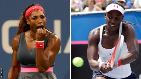 Serena Williams and Sloane Stephens