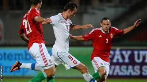 Libor Kozak in action for Czech Republic