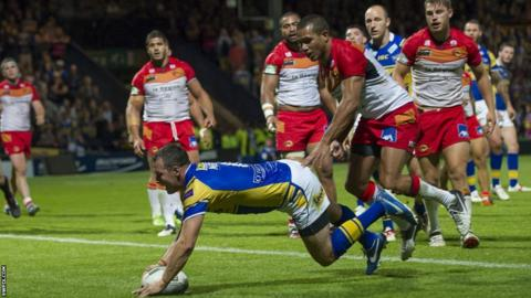 Danny McGuire returns to score a try against Catalans