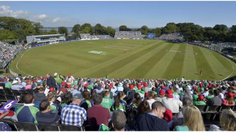 The largest crowd ever for a cricket game in Ireland enjoyed the one-day international held in perfect conditions at the Malahide ground