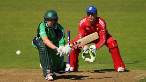 Opening batsman William Porterfield scored 112 runs for Ireland against England