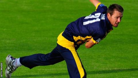 Michael Hogan in one-day action for Glamorgan
