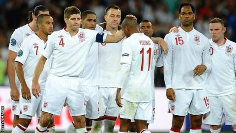 England lost on penalties in the quarter-finals of Euro 2012