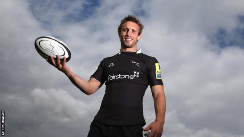 Newcastle Falcons' scrum-half Mike Blair