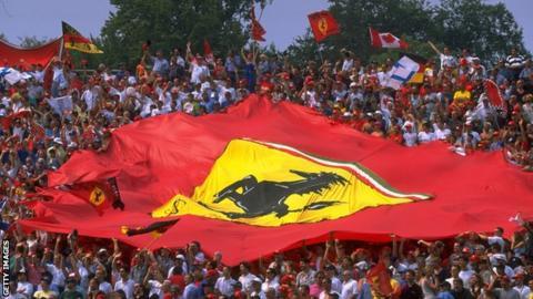 Ferrari flag at Monza