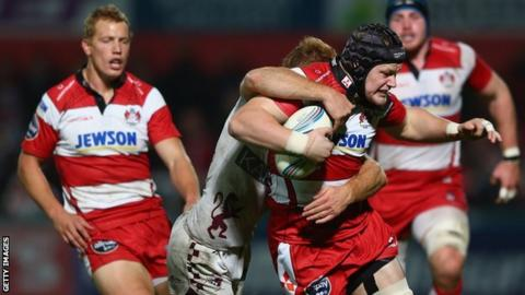 Tom Savage and Billy Twelvetrees in action