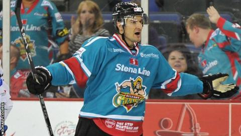 Jeff Szwez celebrates scoring against Edinburgh