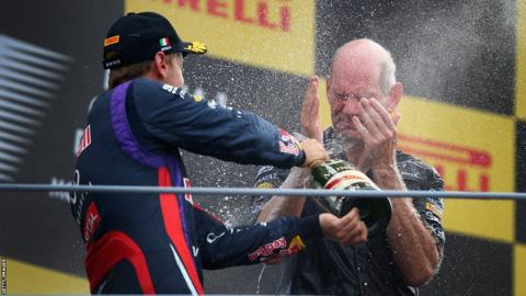 Sebastian Vettel and Adrian Newey