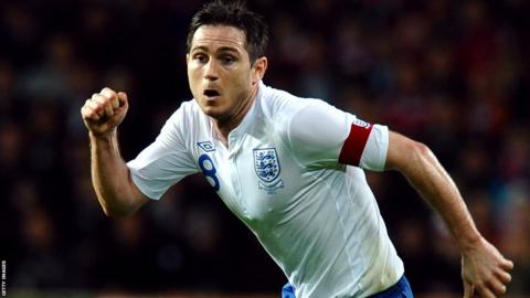 Lampard captain v Denmark 9 February 2011
