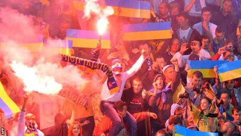 Ukraine football fans