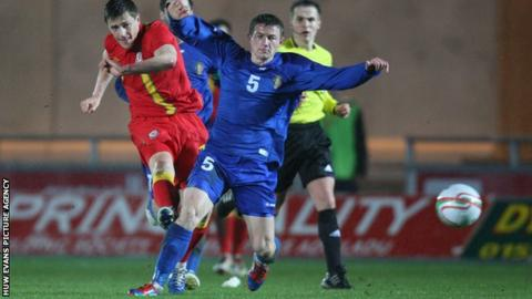 Wales' Rob Ogleby in action against Moldova in March