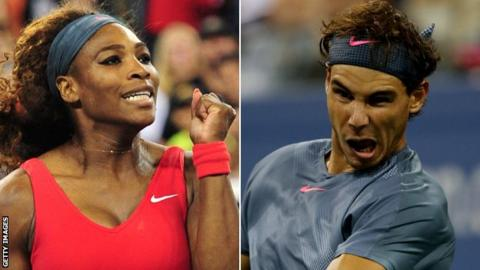 Serena Williams and Rafael Nadal