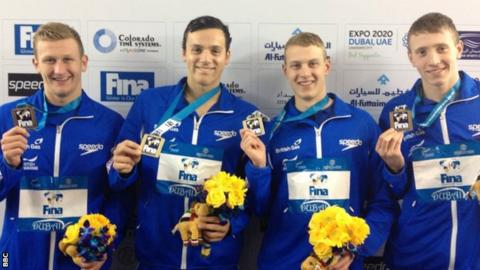 James Guy and other World Junior Swimming medalists