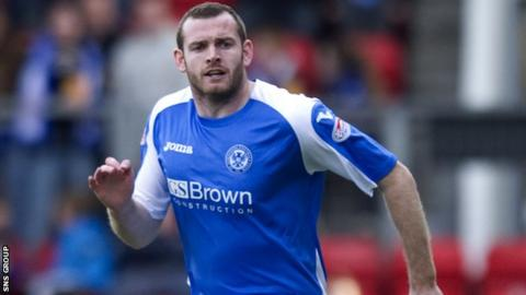Craig Beattie in action for St Johnstone