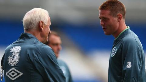 Giovanni Trapattoni (left) and James McCarthy